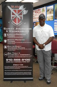 Anthony Waddy with SAV Banner